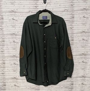 Pendleton 100% Virgin Wool Green Button up Sz:XL
